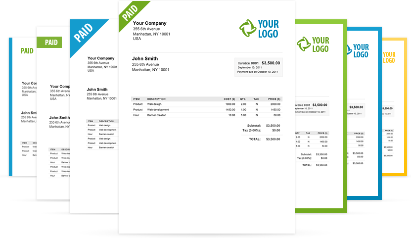 professional well designed invoices and estimates
